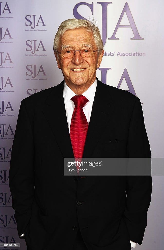 President, Sir <a gi-track='captionPersonalityLinkClicked' href=/galleries/search?phrase=Michael+Parkinson&family=editorial&specificpeople=159753 ng-click='$event.stopPropagation()'>Michael Parkinson</a> attends the SJA 2011 Sports Awards at the Grand Connaught Rooms on December 7, 2011 in London, England.