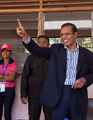 President Taur Matan Ruak casts his vote during Parliamentary Elections on July 7 2012 in Dili East Timor 21 parties are contesting in the country's...