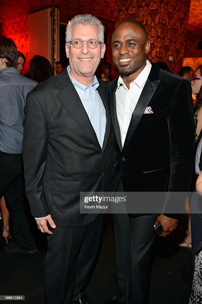 President, The CW, Mark Pedowitz and <a gi-track='captionPersonalityLinkClicked' href=/galleries/search?phrase=Wayne+Brady+-+Actor&family=editorial&specificpeople=217495 ng-click='$event.stopPropagation()'>Wayne Brady</a> attend The CW Network's 2013 Upfront party at FINALE on May 16, 2013 in New York City.
