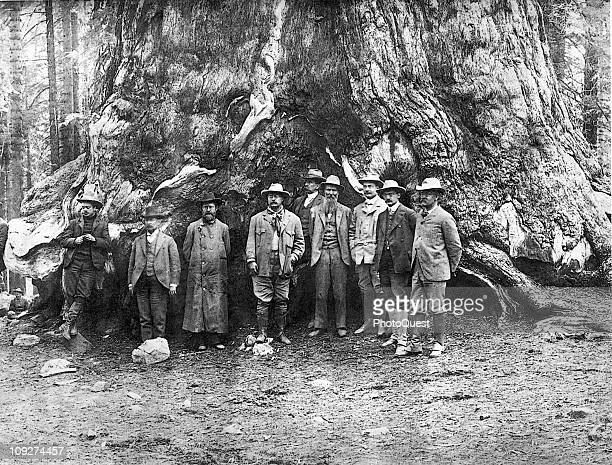 President Theodore Roosevelt and conservationist John Muir in Yosemite Valley California 1903