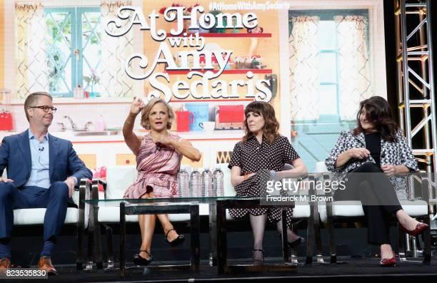 President truTV Chris Linn creator/executive producer Amy Sedaris writer/executive producer Jodi Lennon and writer/executive producer Cindy Caponera...
