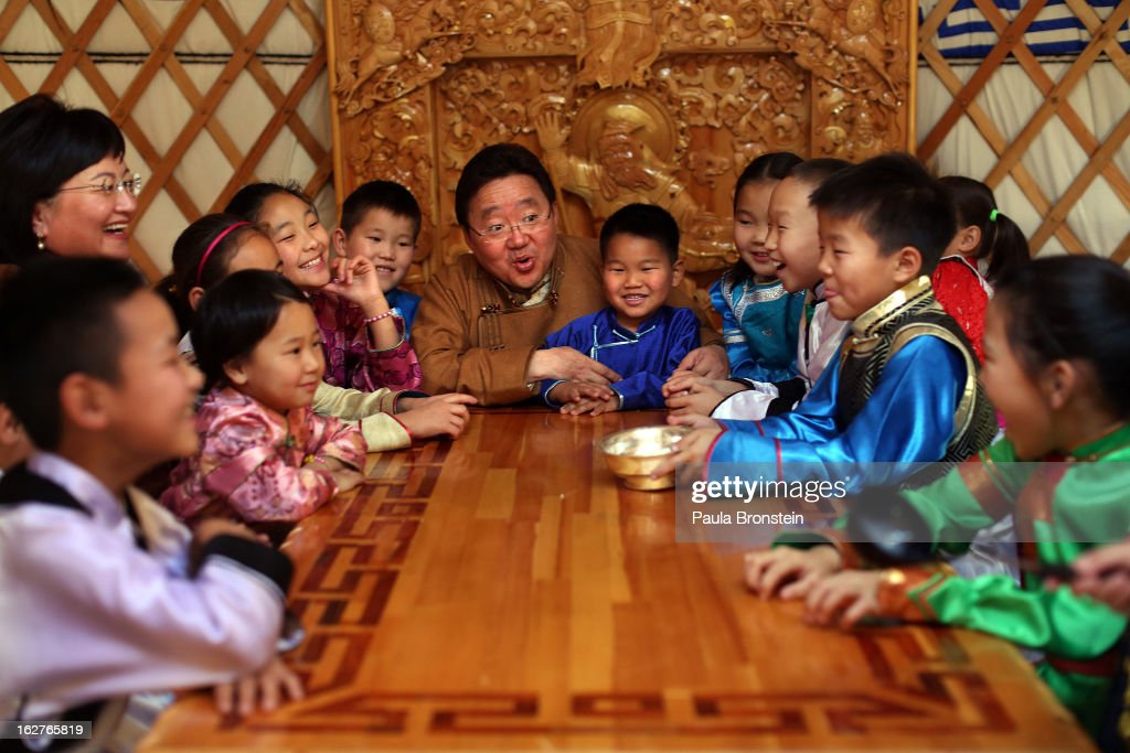 An Intimate Portrait Of President Of Mongolia And His Family