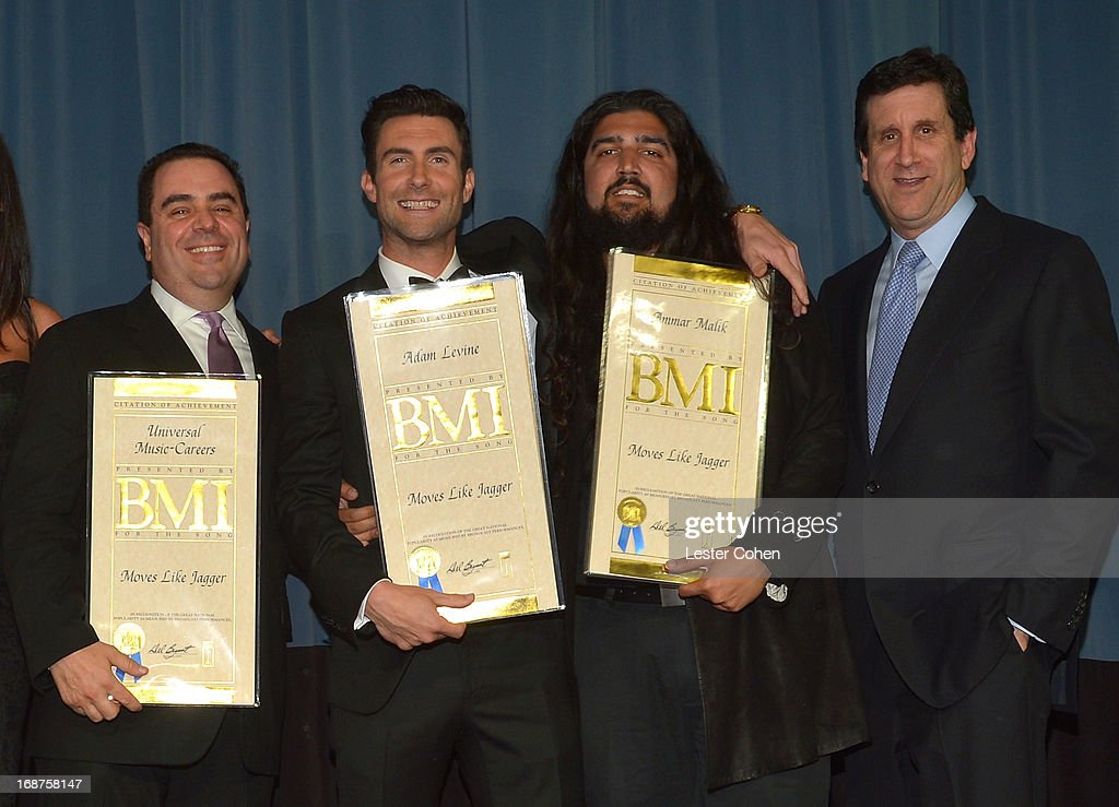 President Universal Music Publishing Group North America Evan Lamberg 2013 BMI President's Award Recipient Adam Levine BMI CoSongwriter of the Year...