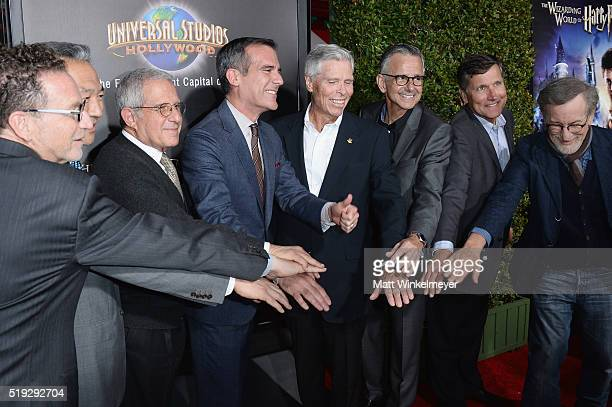 President Universal Studios Hollywood Larry Kurzweil chairman and CEO of Warner Bros Entertainment Kevin Tsujihara vice chairman of NBC Universal Ron...