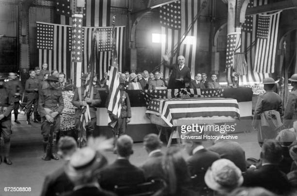 US President Warren G Harding during Military Funeral Washington DC USA Bain News Service May 1921