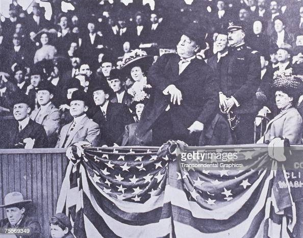 WASHINGTON APRIL 1910 President William Howard Taft throws out the first ball to open a baseball season in history in Washington in April of 1910