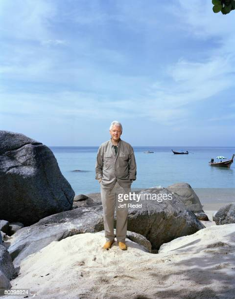 President William Jefferson Clinton poses at a portrait session in Phuket Thailand