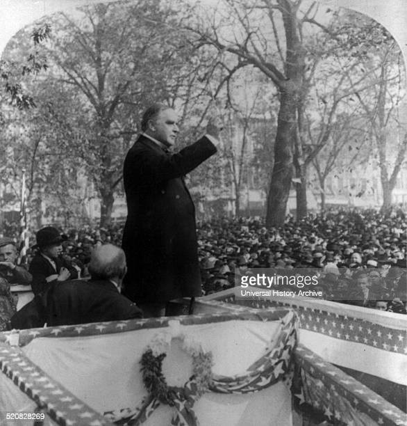 President William McKinley speaking at Quincy Ill McKinley was the 25th President of the United States and led the nation to victory in the...