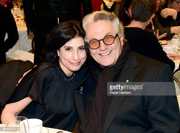 President Worldwide Marketing and Distribution Warner Bros Pictures Sue Kroll and filmmaker George Miller attend the 16th Annual AFI Awards at Four...