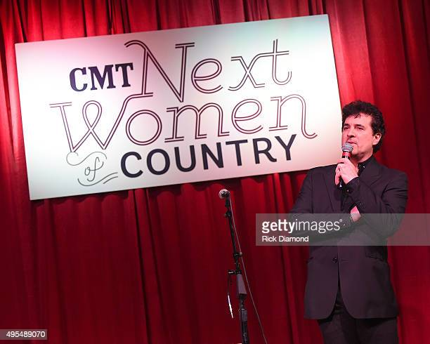 President/CEO Big Machine Records Scott Borchetta speaks at the 2015 'Next Women of Country' Event at City Winery Nashville on November 3 2015 in...