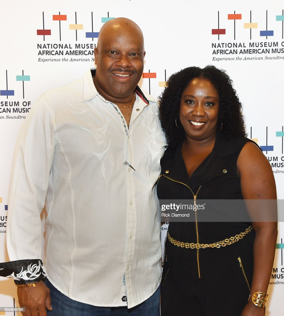 President/CEO H. Beecher Hicks III and Director of Development/Chief of Staff Lolita Toney attend NMAAM Nashville Salon at CAA offices on August 17, 2017 in Nashville, Tennessee.