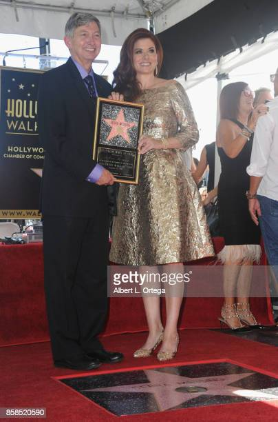 President/CEO Leron Gubler of WOF and actress Mariska Hargitay attend Debra Messing Star Ceremony on The Hollywood Walk Of Fame held on October 6...