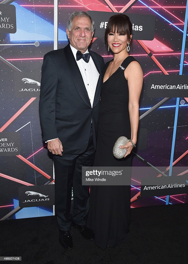 President/CEO Leslie Moonves (L) and TV personality Julie Chen attend the 2015 Jaguar Land Rover British Academy Britannia Awards presented by American Airlines at The Beverly Hilton Hotel on October 30, 2015 in Beverly Hills, California.