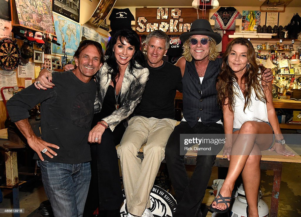 President/CEO M.O.R.E. Enterprises/Manager Big & Rich Marc Oswald, Christiev Alphin, Executive Producers, Yann Debonne (Pilgrim Studios), Big Kenny Alphin and Singer/Songwriter Gretchen Wilson attend Husband and Wife team Kenny Alphin aka 'Big Kenny' of Country Rock group Big & Rich along with Christiev Alphin Creative Director/Wardrobe Stylist host TLC Screening of Big Kenny and Family at there private resdence on August 27, 2015 in Nashville, Tennessee.