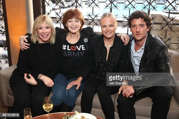 President/CEO of EMA Debbie Levin actors/activists Frances Fisher and Malin Akerman and actor Jack Donnelly attend the Toyota Mirai Presents the...