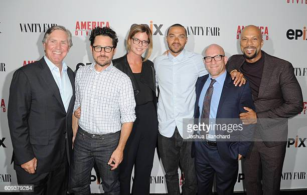 President/CEO of EPIX Mark Greenberg director and host committee member JJ Abrams host committee member Katie McGrath senior producer Jesse Williams...