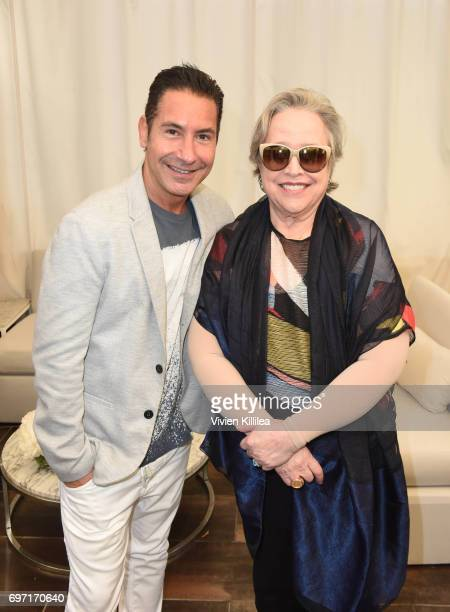 President/CEO of The Krim Group Todd Krim and Kathy Bates attend Academy Award Winner and LERN Spokesperson Kathy Bates Hosts Reception On The Eve Of...