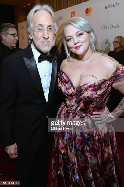 President/CEO of The Recording Academy and GRAMMY Foundation President/CEO Neil Portnow and Elle King attend PreGRAMMY Gala and Salute to Industry...