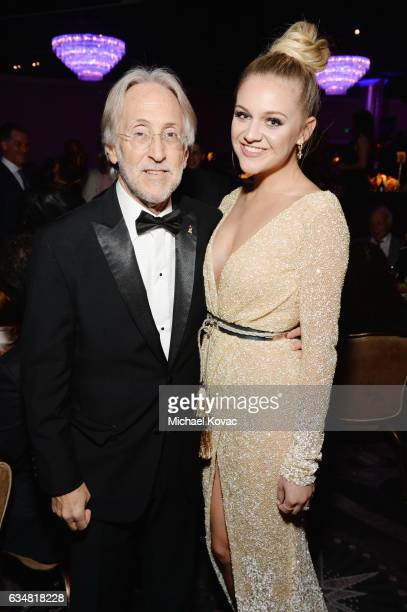 President/CEO of The Recording Academy and GRAMMY Foundation President/CEO Neil Portnow and recording artist Kelsea Ballerini attend PreGRAMMY Gala...