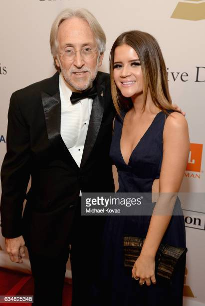 President/CEO of The Recording Academy and GRAMMY Foundation President/CEO Neil Portnow and recording artist Maren Morris attend PreGRAMMY Gala and...