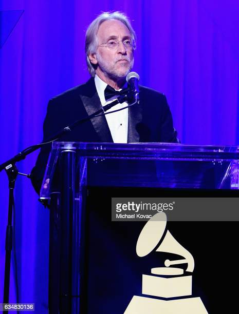 President/CEO of The Recording Academy and GRAMMY Foundation President/CEO Neil Portnow speaks onstage during PreGRAMMY Gala and Salute to Industry...