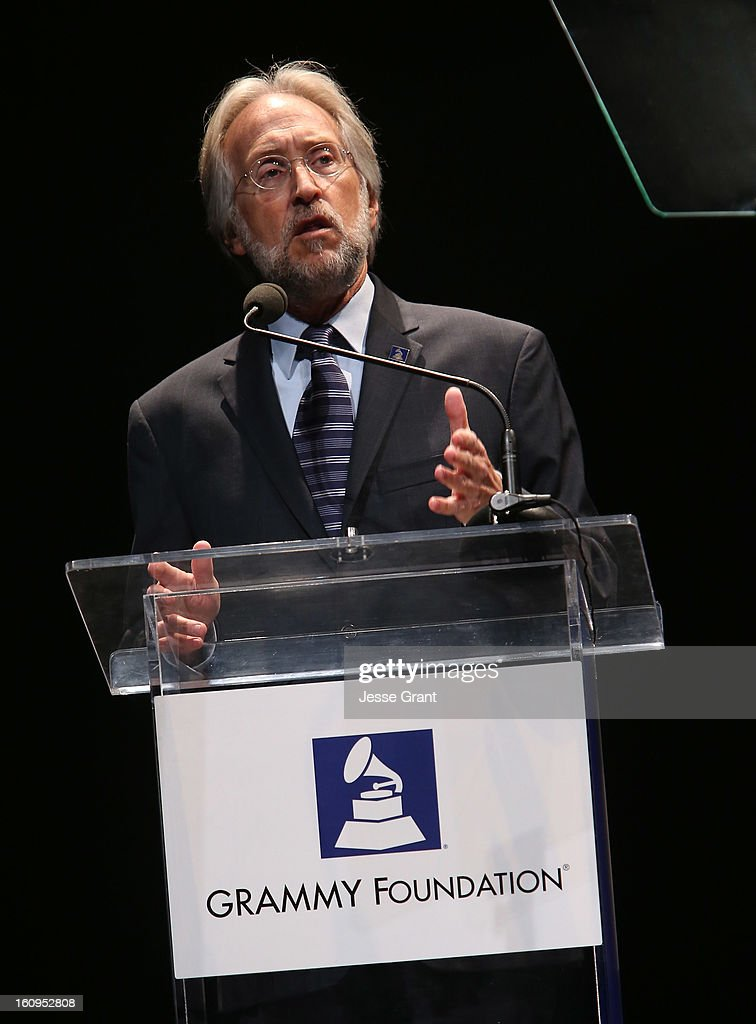 President/CEO of The Recording Academy Neil Portnow attends The 55th Annual GRAMMY Awards - Music Preservation Project 'Play It Forward' Celebration highlighting The GRAMMY Foundations ongoing work to safegaurd music's history at the Saban Theatre on February 7, 2013 in Los Angeles, California.
