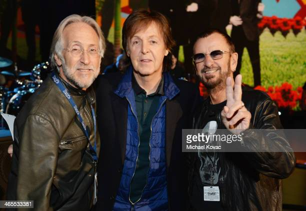 President/CEO of The Recording Academy Neil Portnow musicians Paul McCartney and Ringo Starr attend 'The Night That Changed America A GRAMMY Salute...