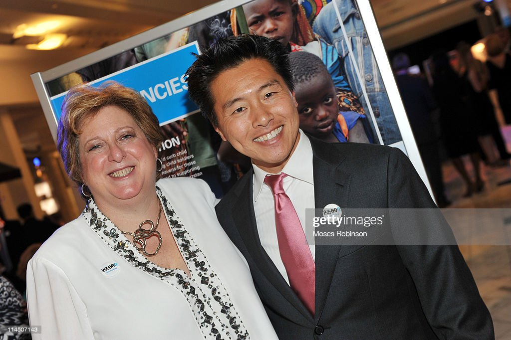 President/CEO UNICEF Fund for UNICEF Caryl Stern and Vern Yip attend the UNICEF Experience launch party at The Lenox Square Luxury Wing on May 22...