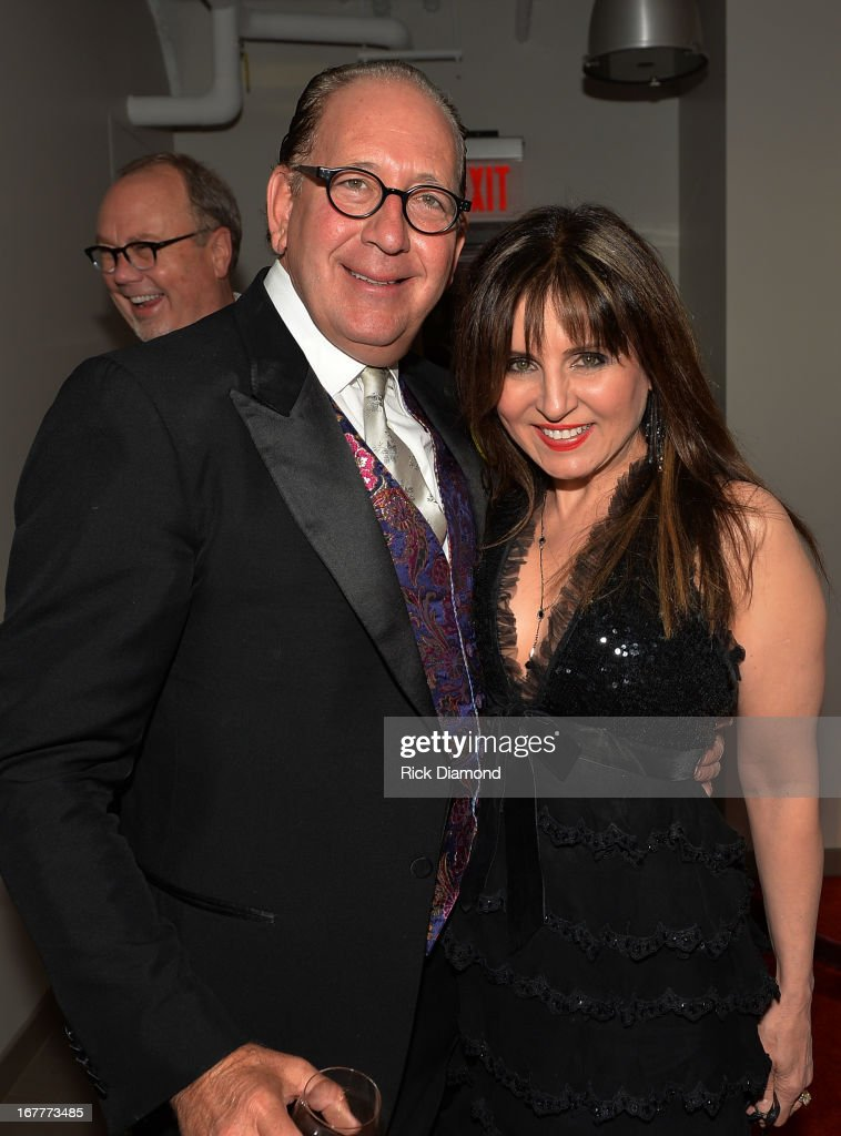 President/CEO WBN John Esposito and Recording Artist Deorah Allen attend the 14th annual T.J. Martell Foundation Nashville Best Cellars dinner at the Bridge Building on April 29, 2013 in Nashville, Tennessee.