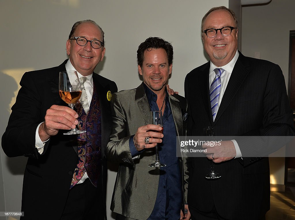 President/CEO WBN John Esposito, Recording Artist Gary Allen and President Universal Nashville Mike Dungan attend the 14th annual T.J. Martell Foundation Nashville Best Cellars dinner at the Bridge Building on April 29, 2013 in Nashville, Tennessee.