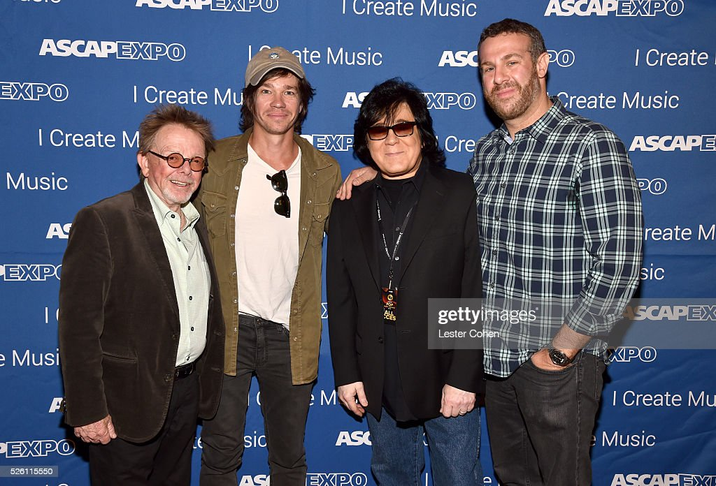 President/Chairman Paul Williams, singer-songwriter Nate Ruess, ASCAP Membership EVP <a gi-track='captionPersonalityLinkClicked' href=/galleries/search?phrase=John+Titta&family=editorial&specificpeople=7864853 ng-click='$event.stopPropagation()'>John Titta</a> and ASCAP Sr. Director, Pop/Rock, Membership, Jason Silberman attend the 2016 ASCAP 'I Create Music' EXPO on April 29, 2016 in Los Angeles, California.
