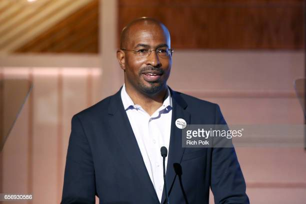 President/cofounder of The Dream Corps and CNN contributor Van Jones speaks during the keynote 'Where We Went Wrong and How We Can Change the Future'...