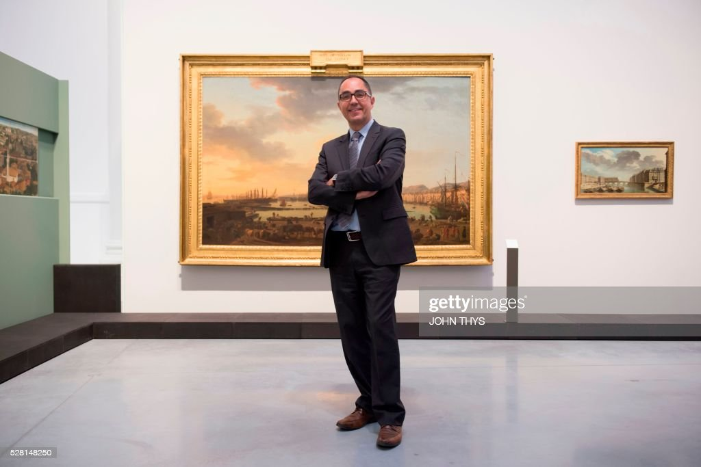 President-Director of the Louvre Jean-Luc Martinez attends the inauguration of museum La Boverie Le Louvre, in Liege on May 4, 2016. A / AFP / JOHN
