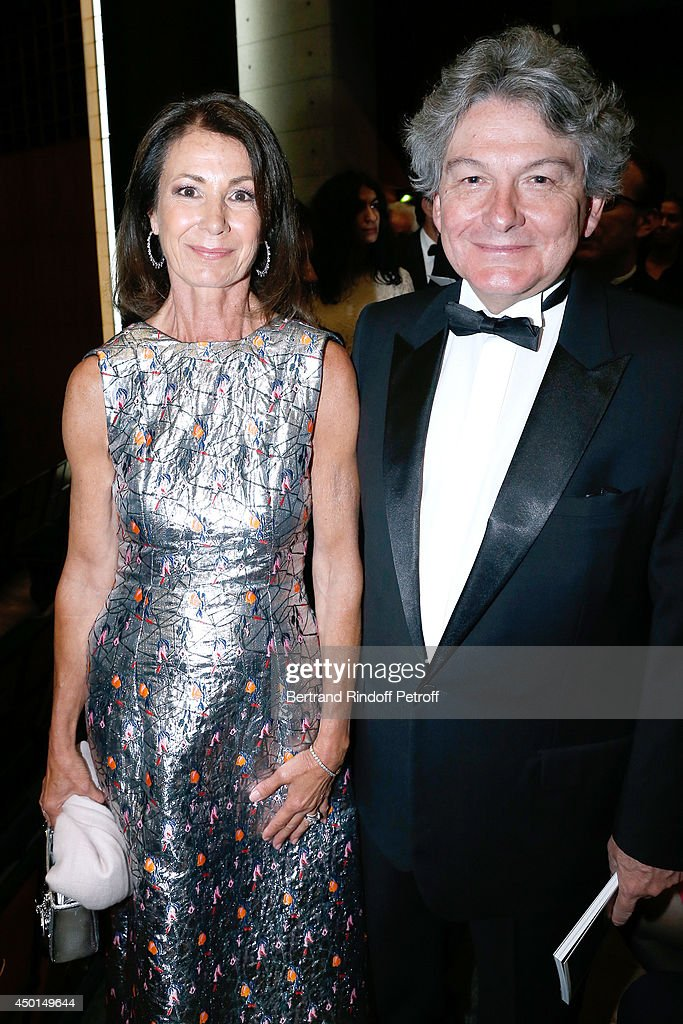 Presidente of the Committee of honor of the Gala Valerie Breton and her husband <a gi-track='captionPersonalityLinkClicked' href=/galleries/search?phrase=Thierry+Breton&family=editorial&specificpeople=536439 ng-click='$event.stopPropagation()'>Thierry Breton</a> attend the AROP Charity Gala with play of 'La Traviata'. Held at Opera Bastille on June 5, 2014 in Paris, France.