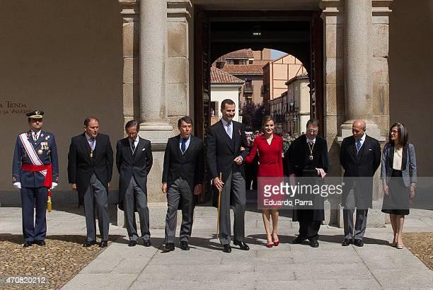 Presidente ofMadrid Ignacio Gonzalez Spain's King Felipe VI of Spain Queen Letizia of Spain Rector of Alcala de Henares University Fernando Galvan...