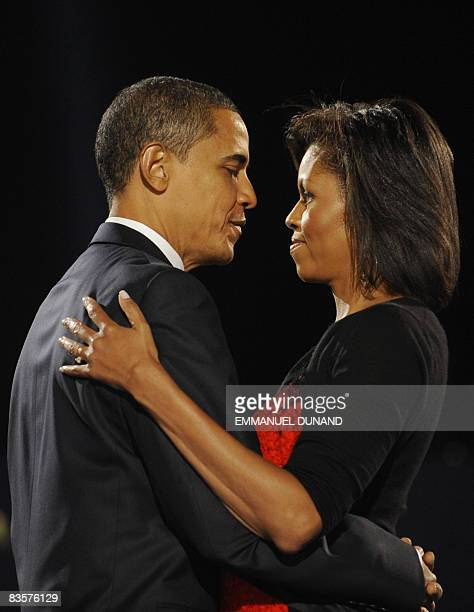 US Presidentelect Barack Obama and his wife Michelle during an election night party in Chicago Illinois November 4 2008 AFP PHOTO/Emmanuel Dunand