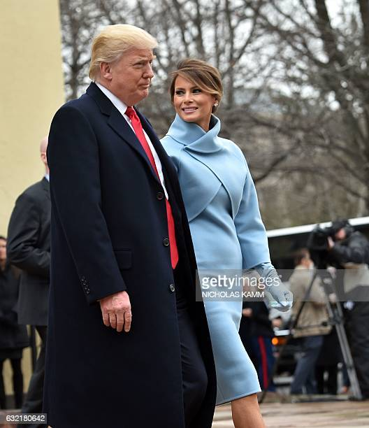 US Presidentelect Donald Trump and his wife Melania leave St John's Episcopal Church on January 20 before Trump's inauguration / AFP / Nicholas Kamm