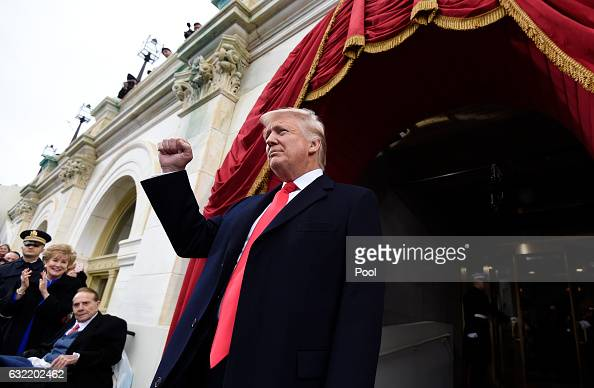 Presidentelect Donald Trump arrives for his Presidential Inauguration at the US Capitol on January 20 2017 in Washington DC Donald J Trump became the...