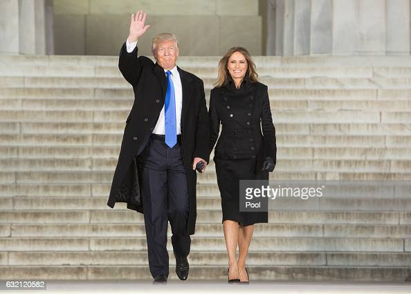 Presidentelect of The United States Donald J Trump and first ladyelect of The United States Melania Trump arrive at the 'Make America Great Again...