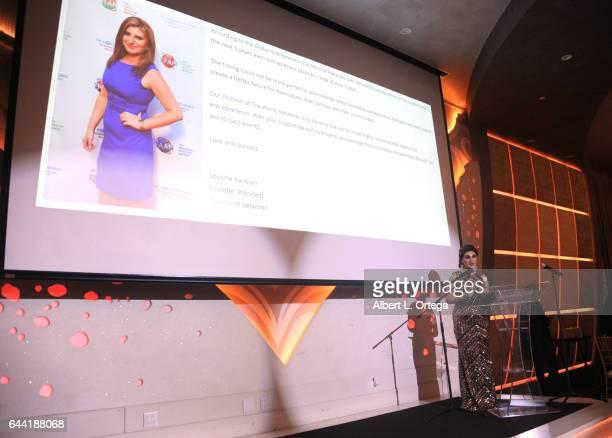 President/founder Lousine Karibian of The World Networks art the 2017 Entrepreneur Awards held at Allure Events And Catering on February 22 2017 in...
