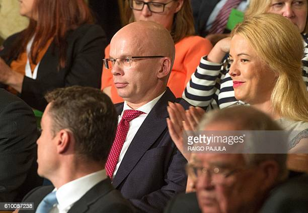 Presidential candidate Allar Joks attends the vote count of the Estonian presidential elections in Tallinn on September 24 2016 Estonia's electoral...