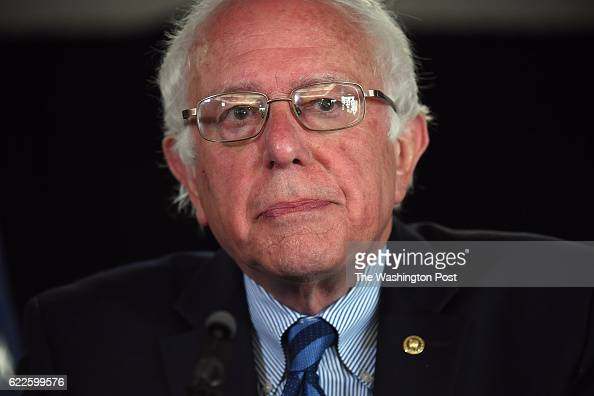 Presidential candidate Bernie Sanders speaks at a press conference at the Hilton Garden Inn San Francisco/Oakland Bay Bridge on Monday June 06 2016...