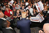 Presidential candidate Donald Trump is seen campaigning at Trump National Doral on October 23 2015 in Doral Florida