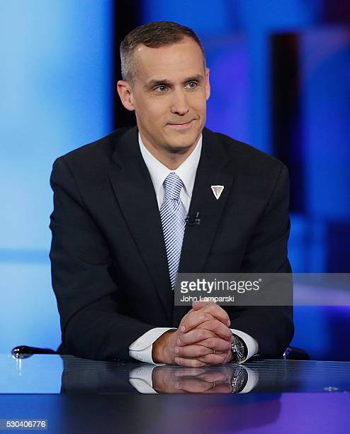 Presidential candidate Donald Trump's campaign manager Corey Lewandowski visits Fox News Channel with Hannity at FOX Studios on May 10 2016 in New...