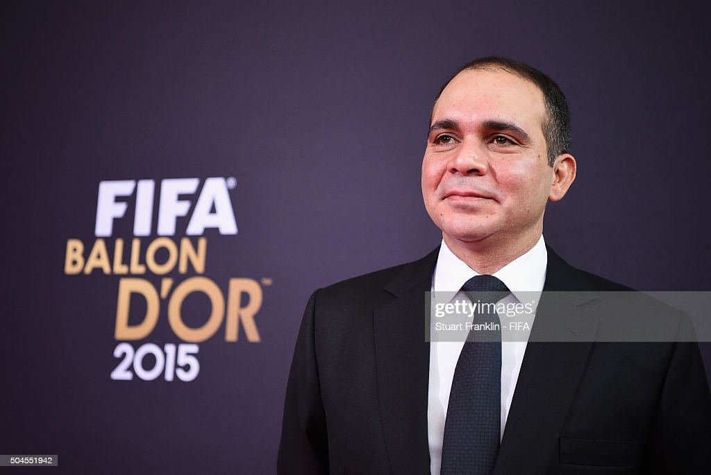 Presidential candidate HRH Prince Ali Bin Al Hussein of Jordan arrives for the FIFA Ballon d'Or Gala 2015 at the Kongresshaus on January 11 2016 in...
