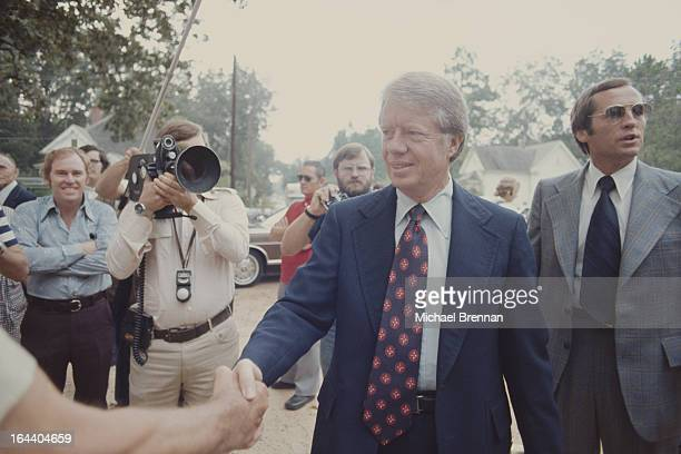 US Presidential candidate Jimmy Carter attends the Baptist church in his hometown of Plains Georgia 1976