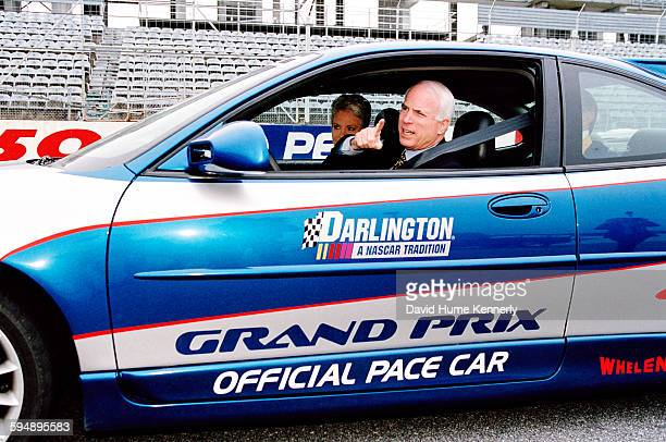 Presidential candidate John McCain and his wife Cindy McCain at a Nascar event during his campaign circa 2000