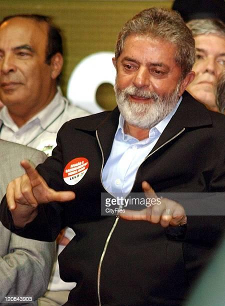 Presidential candidate Luiz Inacio Lula da Silva campaigns inCanoas According to recent projections Lula may reach 70% in the second round