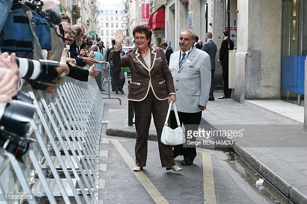 Presidential Candidate Of Union For Popular Movement Nicolas Sarkozy Arrives At His Campaign Headquarters In Paris France On May 06 2007 Christine...