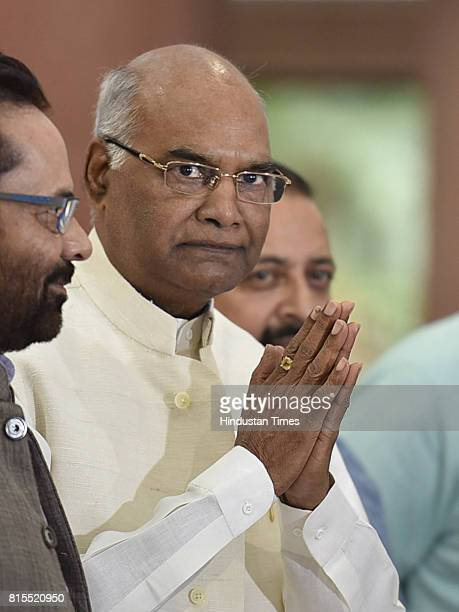 Presidential candidate Ramnath Kovind during the NDA Parliamentary Meeting on the itinerary ahead of monsoon session and Presidential polls at...